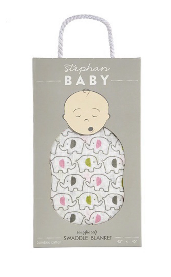 Swaddle Blanket by Stephan Baby, 2 prints available