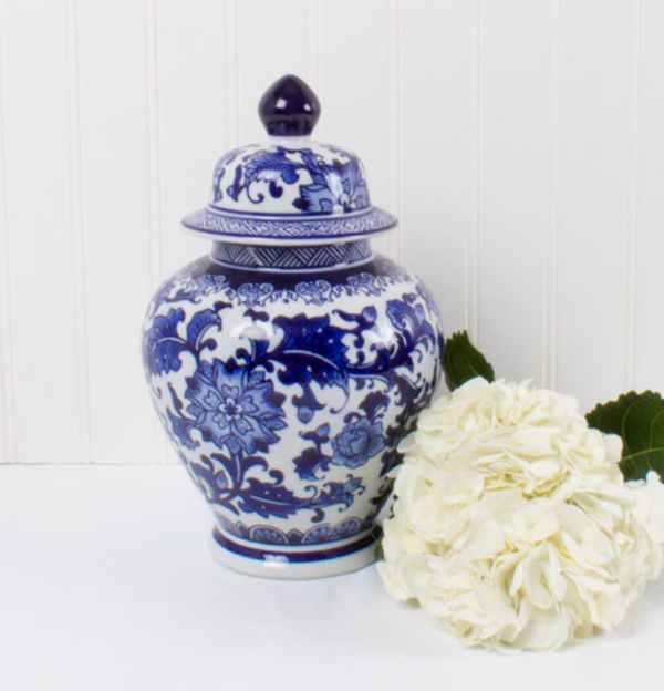 Blue Chinoiserie Ginger Jar, 2 sizes