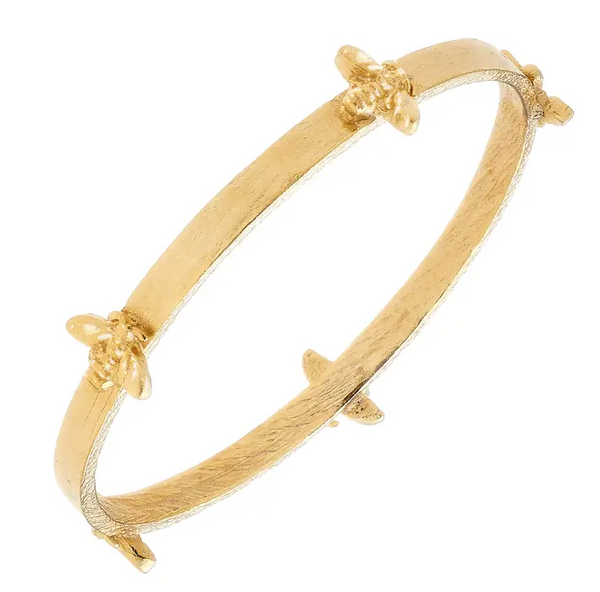 HANDCAST GOLD BEE BANGLE