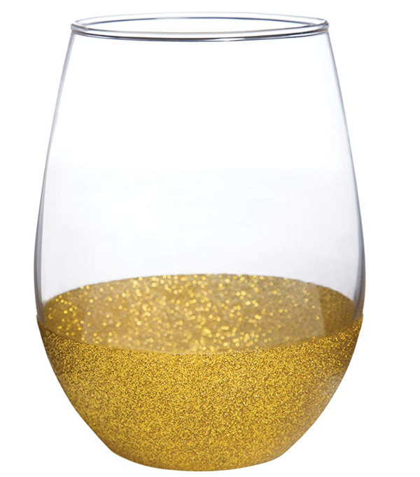 Gold dipped wine glass