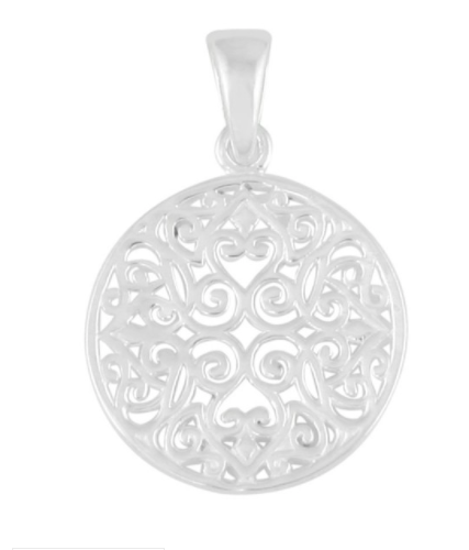 Southern Gates® Large Oval Scroll Pendant