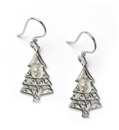 Southern Gates® Christmas Tree Pearl Earring