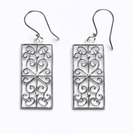 Southern Gates® Rectangular Scroll Earring