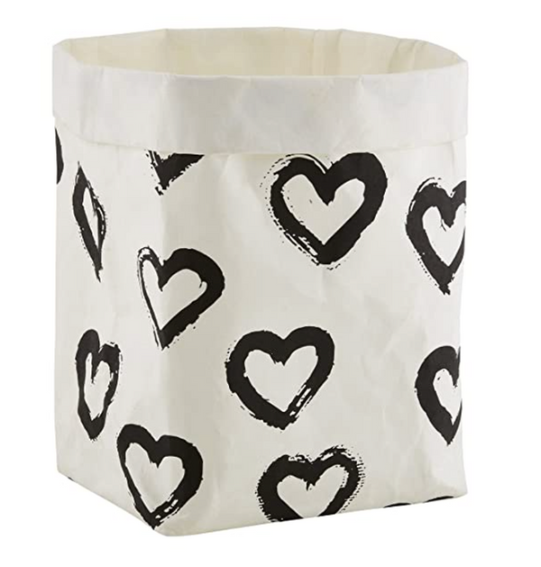 Washable Paper Holder, Large, Heart Doodle