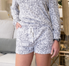 Leopard Brushed Hacci Pajama Short Set