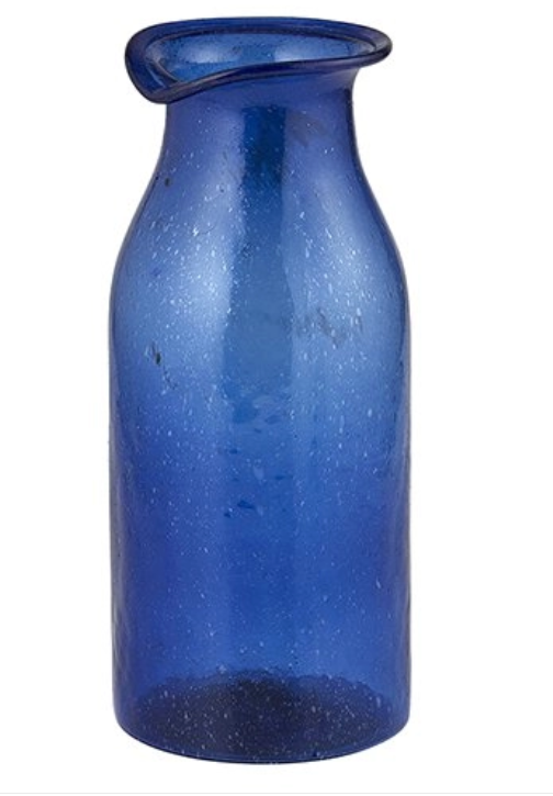 Cobalt Medium Carafe Vase