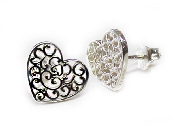 Southern Gates Holiday Heart Stud Earrings