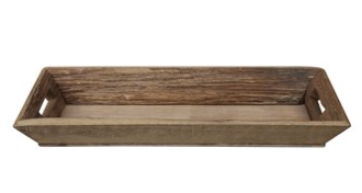 Decorative Wood Tray w/ Handles