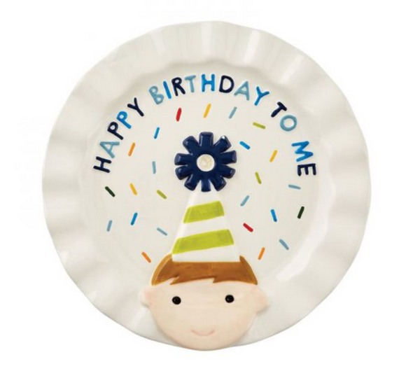 Birthday Candle Plate, Boy or Girl