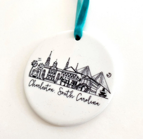 Charleston, South Carolina Ceramic Ornament