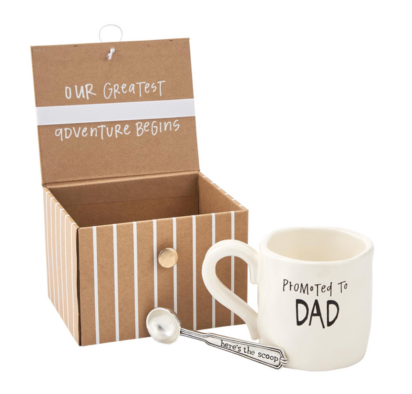 Mud Pie Dad Coffee Baby Announcement Gift Set