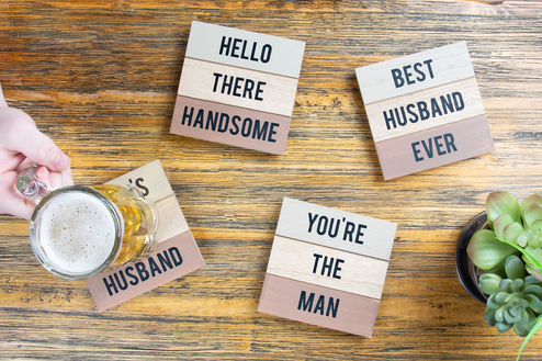 "Husband - 4.5"" - 4 Piece Coaster Set"
