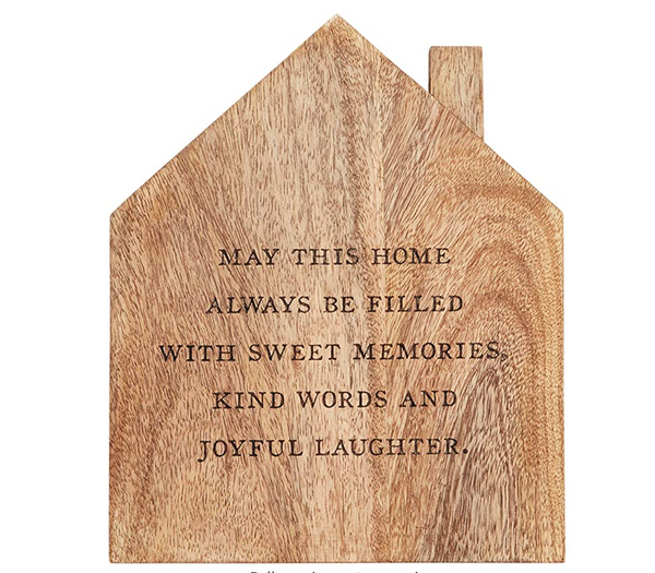 Footed House Wood Trivet
