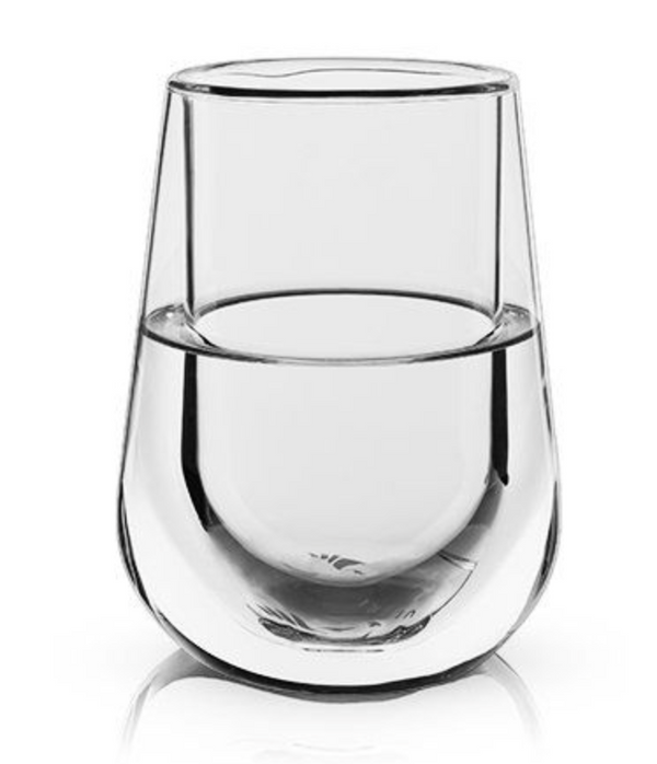 Glacier Double-Walled Chilling Wine Glass by Viski