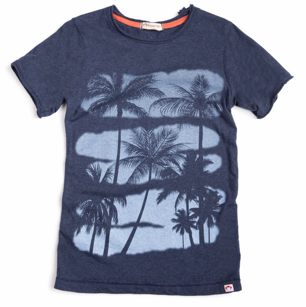 Boys Navy Palms Tshirt- Appaman