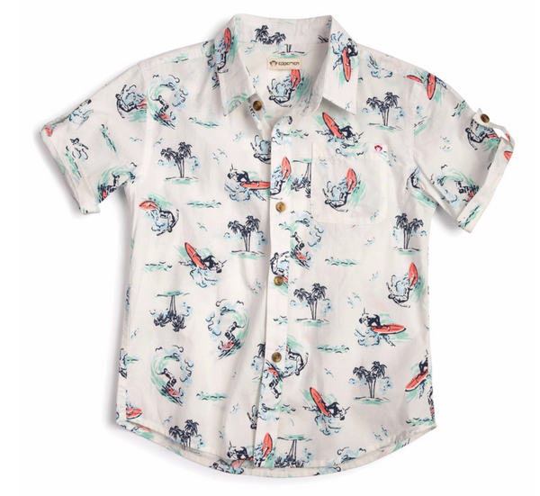 Pattern Shirt Toddler Boys - Surf
