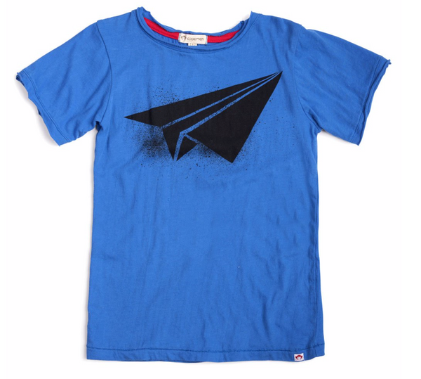 Paper Airplane Tee - Blue