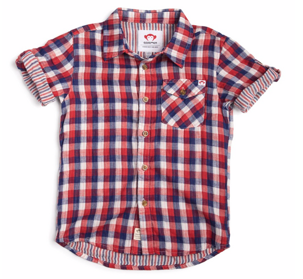 Plaid Button Up Shirt - Patriot Check