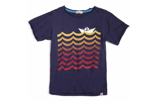 Wavy Eclipse Graphic Boys Short Sleeve Tee- Appaman