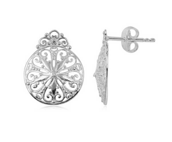 Southern Gates Sand Dollar Post Earring