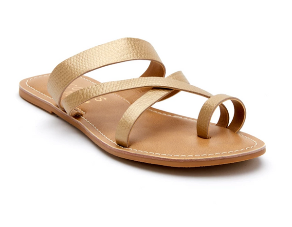 Catalina Gold Slide Sandal