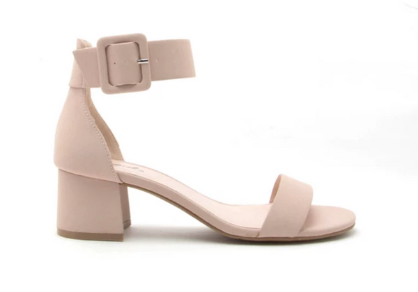 Katz Nude Block Heel Strappy Sandals