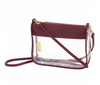 Clear Crossbody Purse - 2 Colors- Monogram