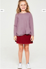 Mauve Long Sleeve Knotted Top