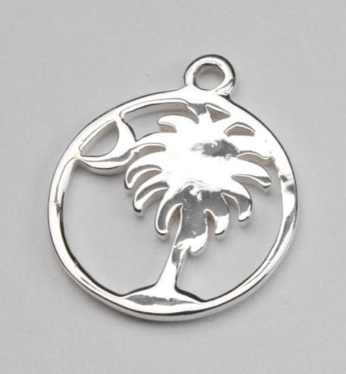Southern Gates Palmetto Tree and Moon Charm