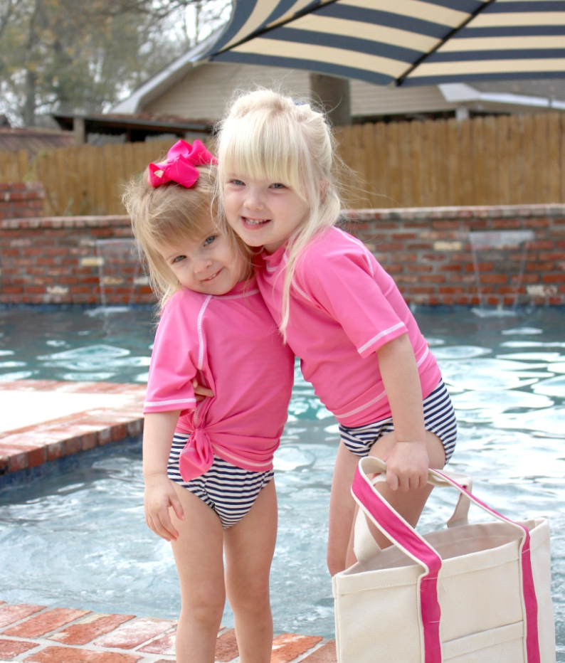 Kids Swim Shirt in Pink