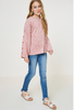 Button Sleeve Brushed Knit Sweater - 2 Colors