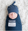 Lulujo Hello World Hat & Swaddle Set - 6 Styles