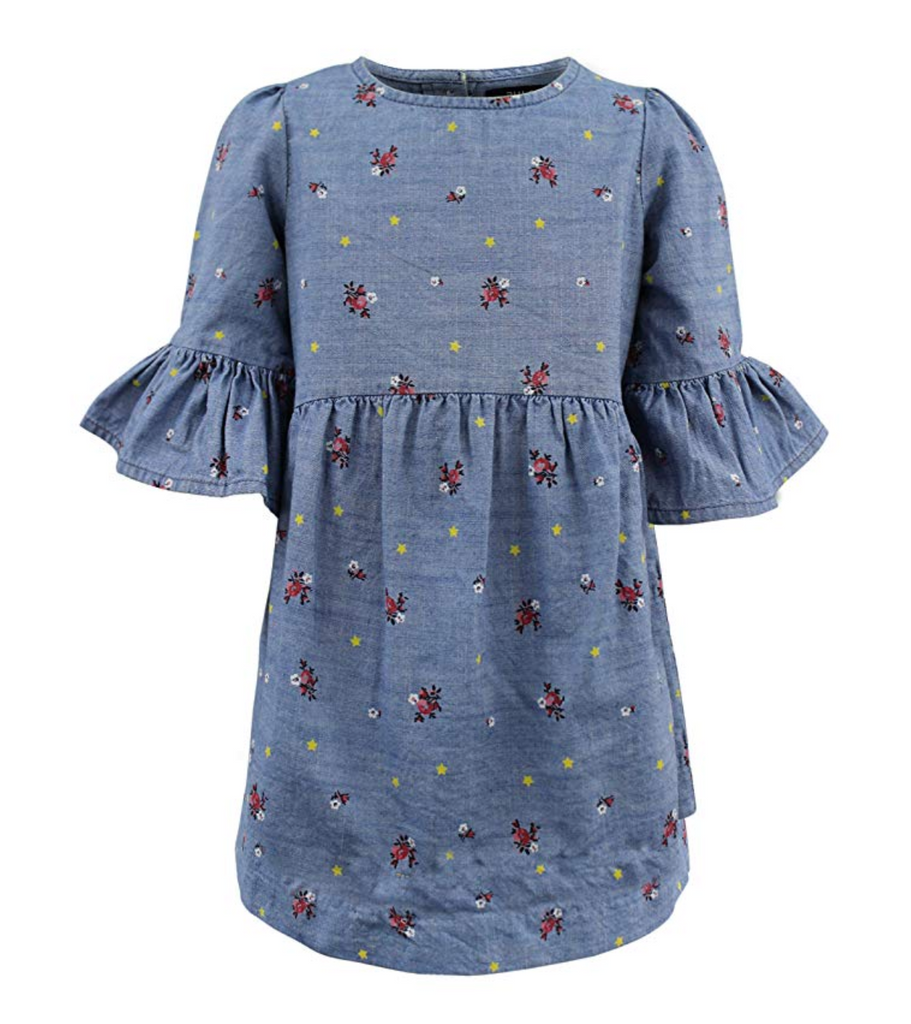 Blu & Blue Lily flower Dress