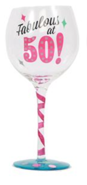 Milestone Ages Birthday Wine Glass