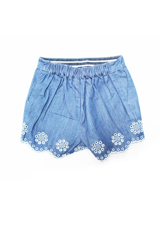 Cotton Eyelet Toddler Shorts