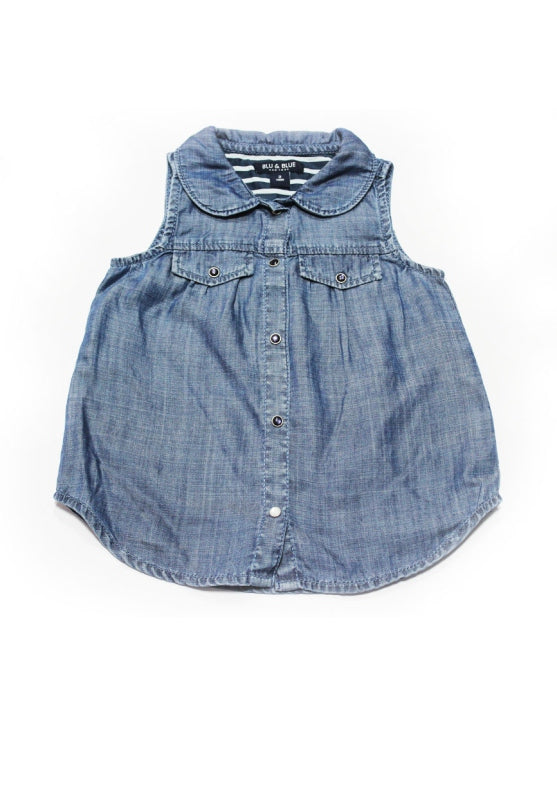Denim Sleeveless Toddler Top