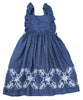 Butterfly Embroidered Toddler Dress