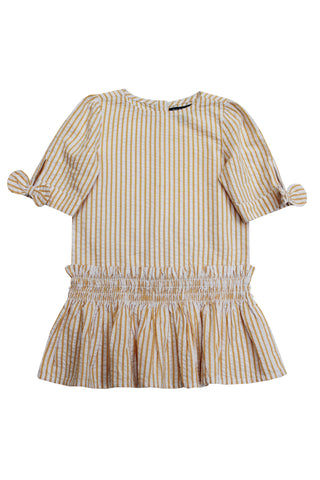 Beatrice Seersucker Drop Waist Toddler Dress
