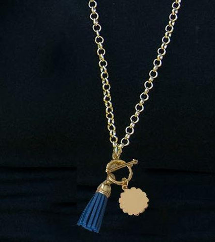 Summer Gold Tassel Necklace-5 colors