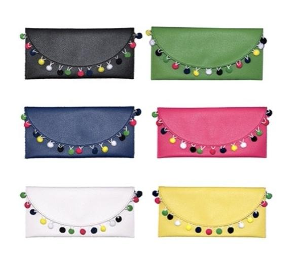 Springtime Pom Pom Clutch Bag - Bubbles Gift Shoppe