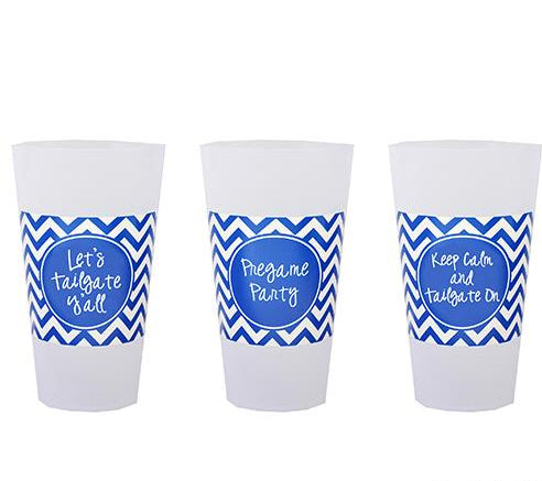 Gameday Set of 6 Cups- Blue or Crimson