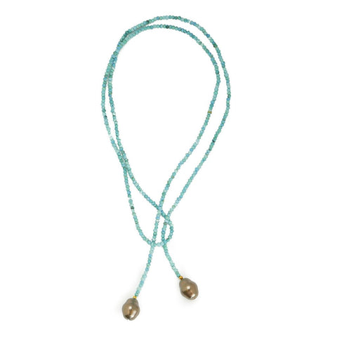 ANNE LARIAT PEARL NECKLACE- 2 colors - Bubbles Gift Shoppe