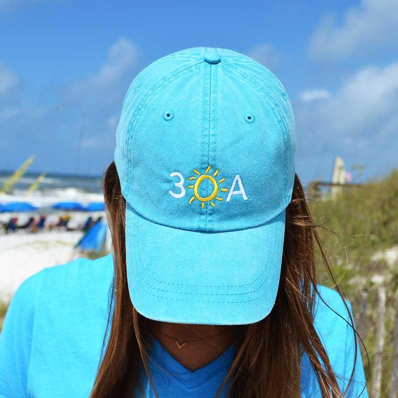 Embroidered 30A Hat - Blue