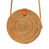Poppy & Sage Camilla Rattan Straw Shoulder Bag
