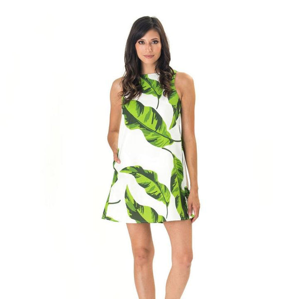 Banana Leaf Shift Dress- Katie Kime