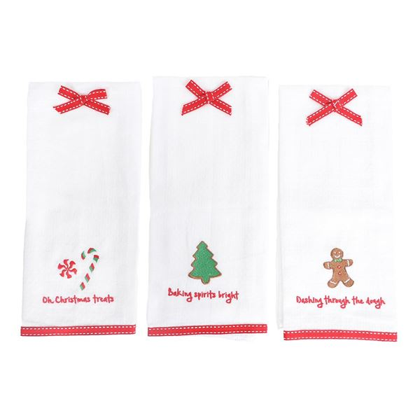 Christmas Saying Dish Towels - 3 Sayings