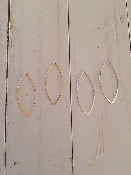 Marquise Hoop Earrings in 2 colors - Bubbles Gift Shoppe