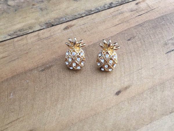 Pineapple Stud Earrings - Bubbles Gift Shoppe