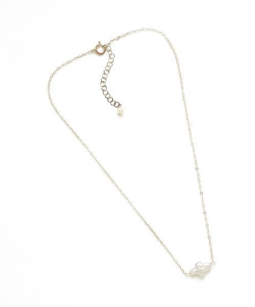 GRACIE FRESHWATER PEARL SILVER CROSS NECKLACE - Bubbles Gift Shoppe