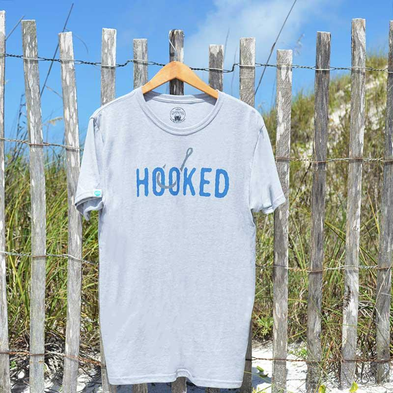Hooked Tee for Fishing Lovers- 2 Colors